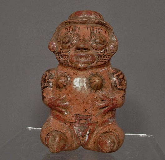 SOLD Antique Pre-Columbian  Ceramic Nicoya Pottery  Figure