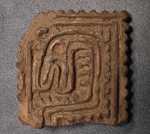 SOLD Antique Pre-Columbian Aztec Ceramic stamp seal circa 1000-1500 AD
