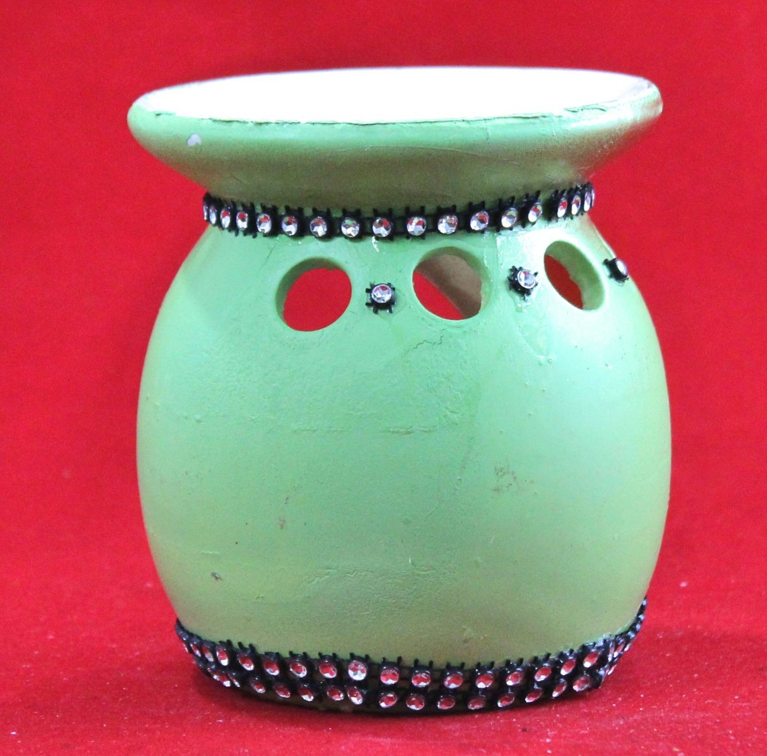 Green Vintage Oil Burner