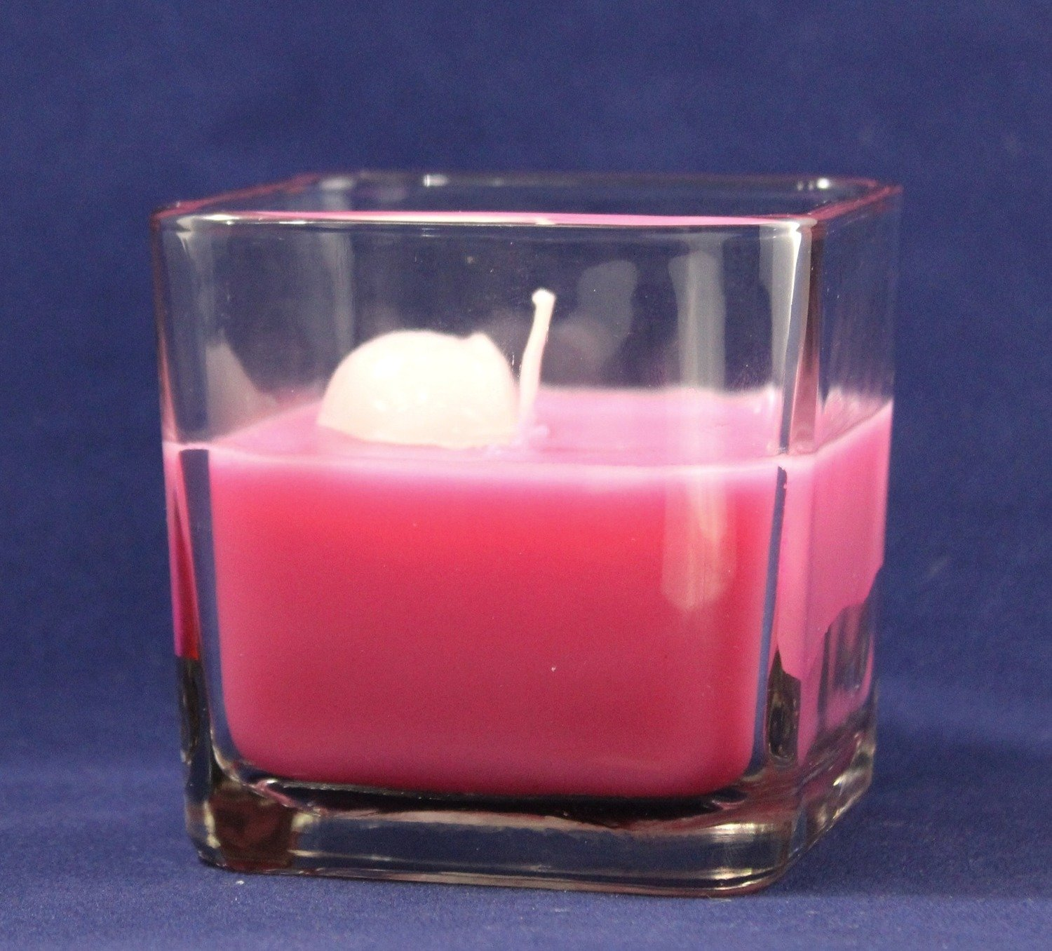 Sweet Diamond Passion Scented Wax Candle In Square Glass