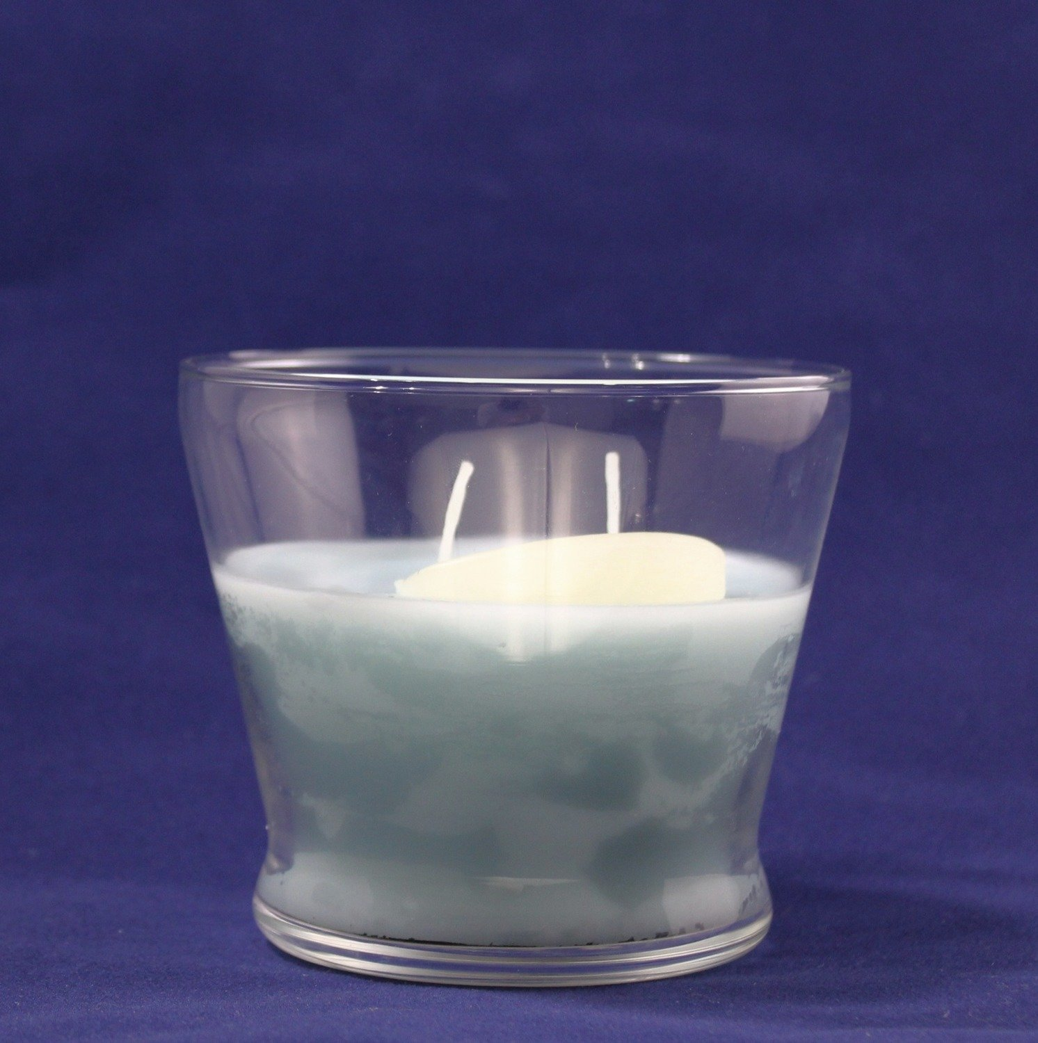 Black Cherry Scented Wax Candle In Flower Pot Glass - 2 wick