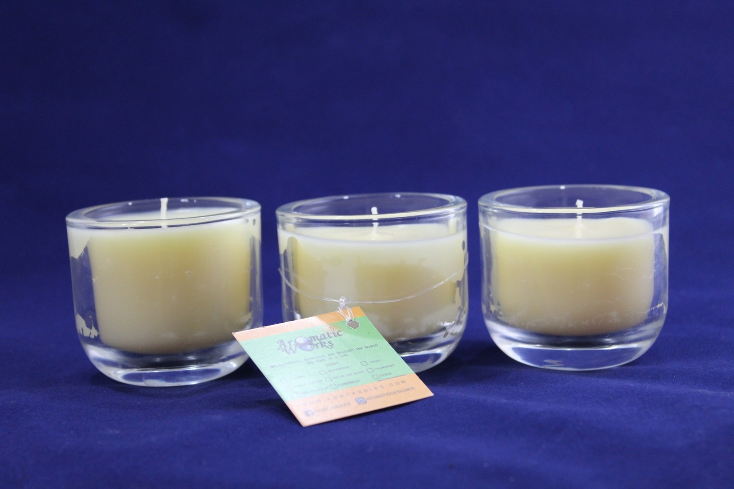 Love's Domain- Votive Set of 3 Scented Wax Candle In Votive Glass