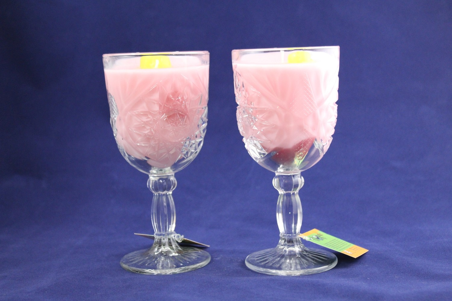 Summer's Love Scented Wax Candle In Large Water Goblet