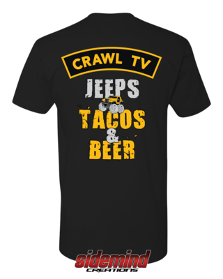 Jeeps, Tacos & Beer T-Shirt - Black