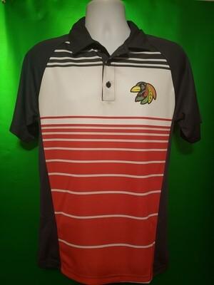 Dry Zone Sublimated Stripe Polo - Blackbird Hockey