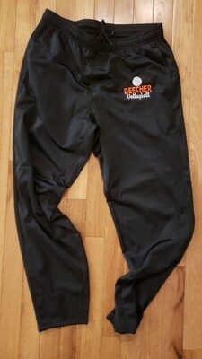 Tricot Beecher Volleyball Pants - Matching Black with Embroidery