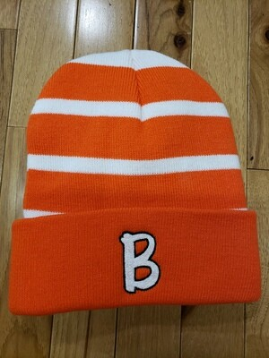 Sport-Tek® Striped Beanie with Solid Band w/