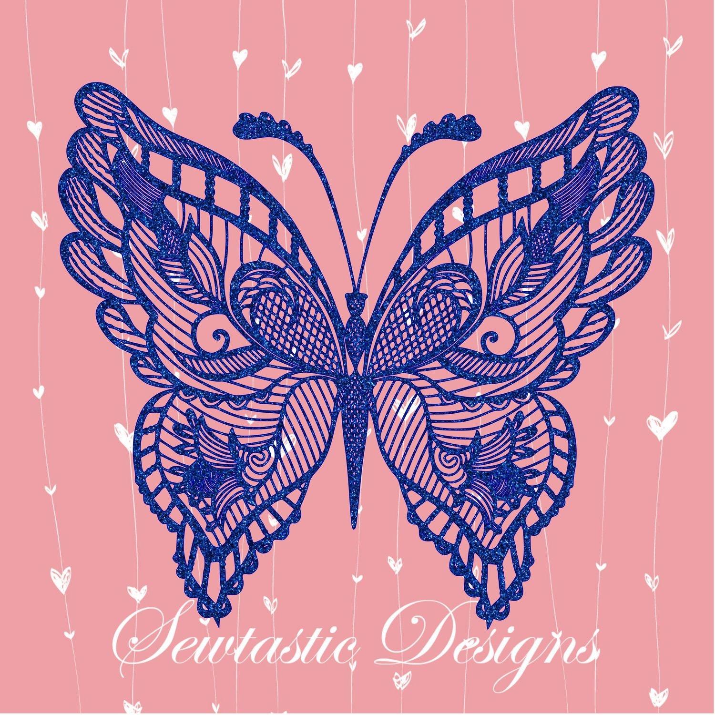 Download Butterfly Mandala Zentangle SVG, Butterfly SVG, Mandala ...