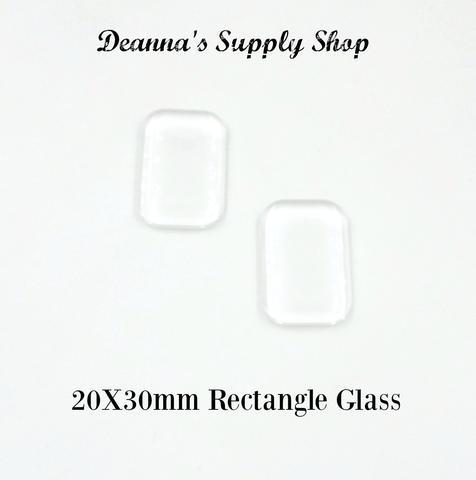 20x30MM Rectangle Glass 00011