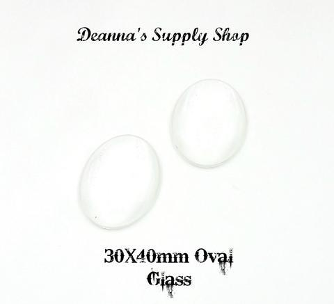 30x40MM Oval Glass 00018
