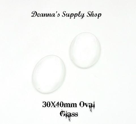 30x40MM Oval Glass