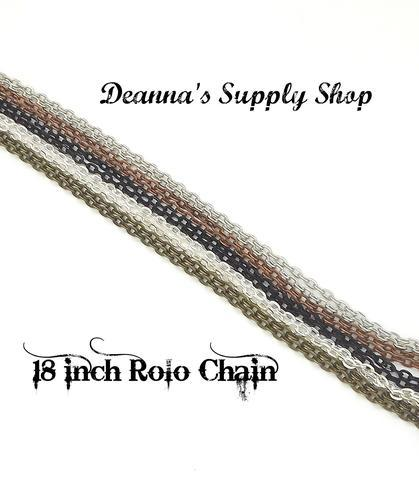 18 Inch Rolo Chains in Choice of 5 Colors 00042