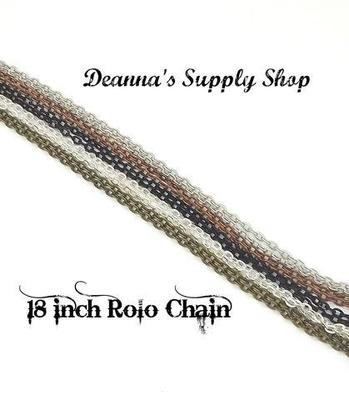 18 Inch Rolo Chains in Choice of 5 Colors