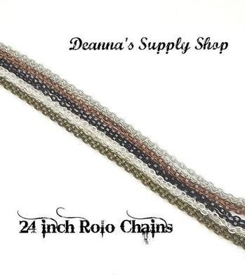 24 Inch Rolo Chains in Choice of 5 Colors