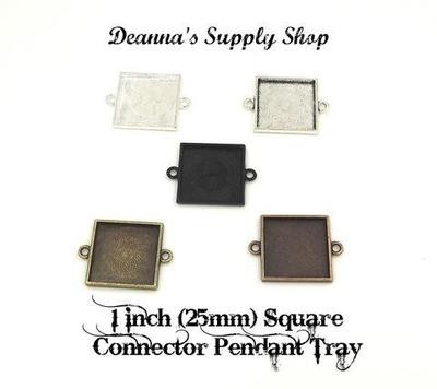 1 Inch (25MM) Square Connector Pendant Tray