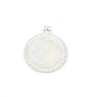 1 Inch Sunflower Pendant Tray in Silver