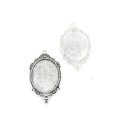 30x40MM Oval Pendant Tray in Choice of 2 Colors