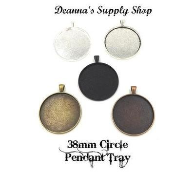 38MM Circle Pendant Tray in Choice of 5 Colors