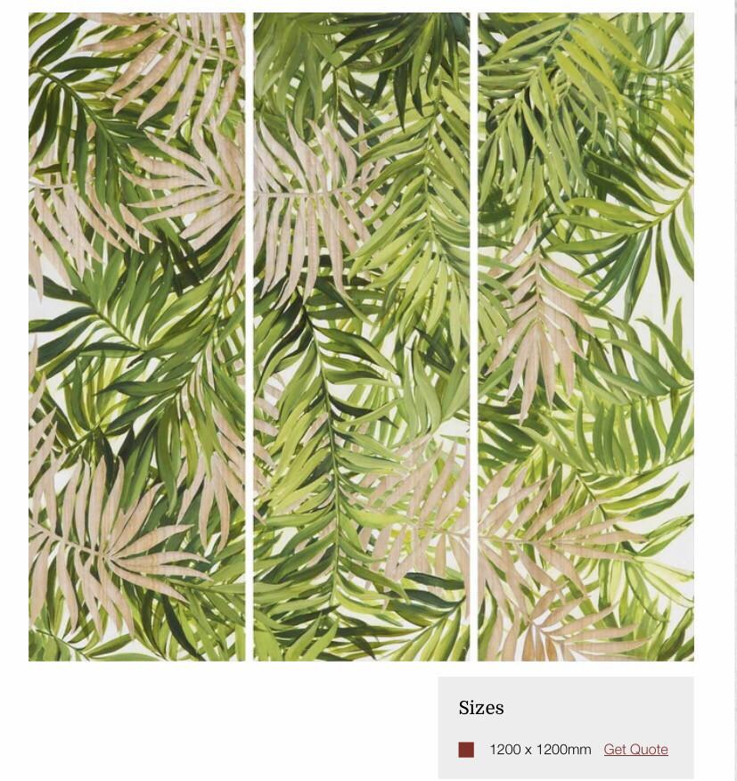 HP081 Tropical Leaves Wood Art