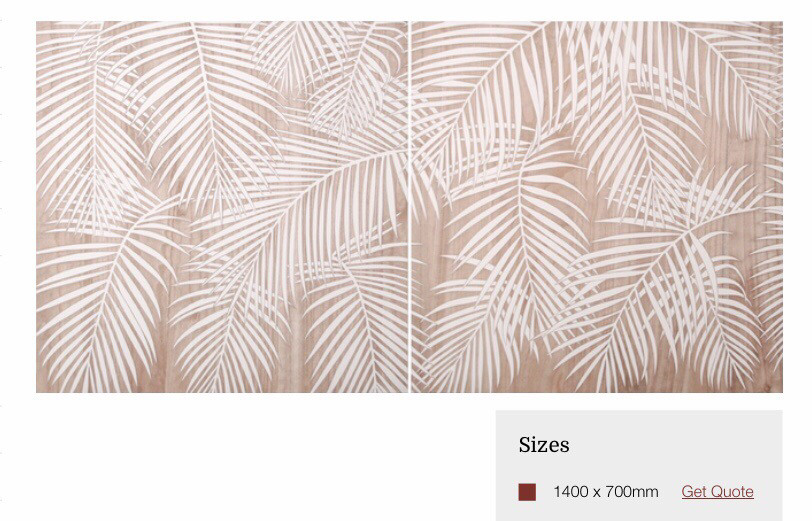 HP085 2 Panel Wood Art Leaves