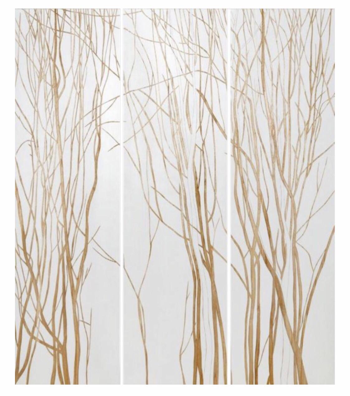 HP092 3 Panel Wood Art Trees