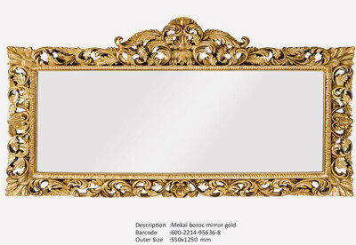 NWM95636-8 Mekal Baroque Silver Mirror