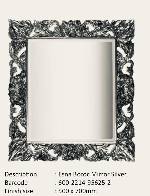 NWM95625-2 Esna Baroque Silver Mirror