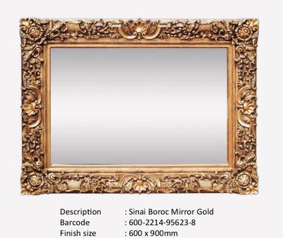 NWM95623-8 Sinai Baroque Gold Mirror