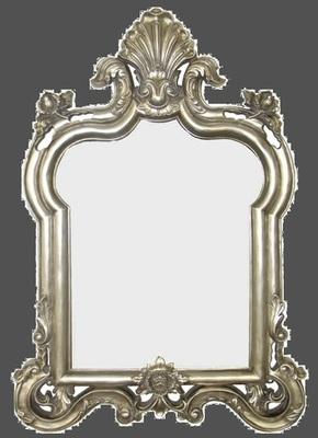 AF023 ornate overmantle silver/gold/white mirror