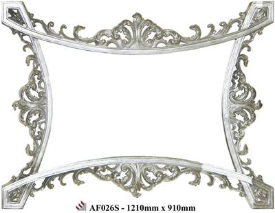 AF026 Silver detailed mirror