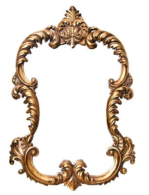 AF005G classic mirror in Gold.