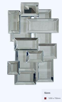 MC009 Mirror on mirror detailed contemporary mirror.
