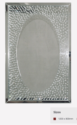 MC010 Detailed mirror on mirror with oval inner mirror