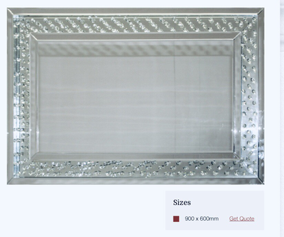 MC018 Detailed mirror frame on mirror