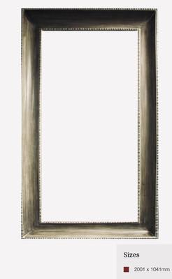 ZS074 Bronzed rectangular contemporary mirror