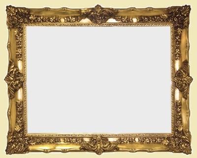 CF098 Classical ornate gold/white/silver mirror