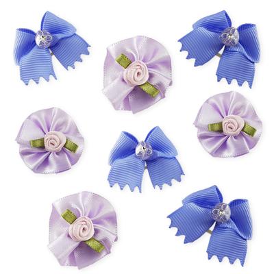 Combo Purple Bows - 8 pieces