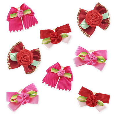 Combo Pink and Red Bows - 8 pieces