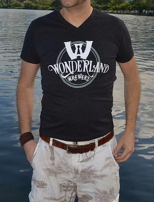 Camiseta Wonderland, triblend, preta, unisex