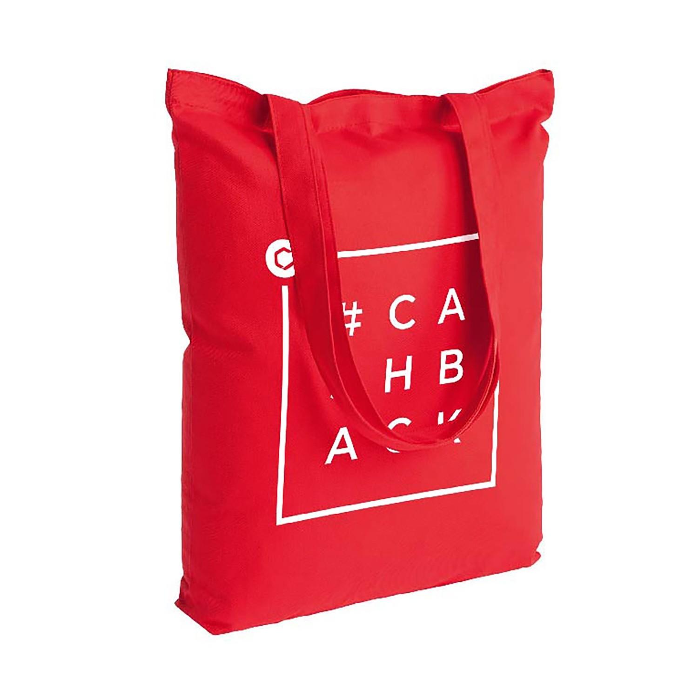 Холщовая сумка с дизайном CASHBACK