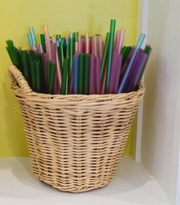 Plastic Straws Pink