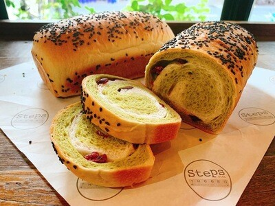 Matcha Cranberry Bread
