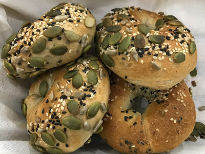 Vegan Multigrain Bagels (4 pcs)
