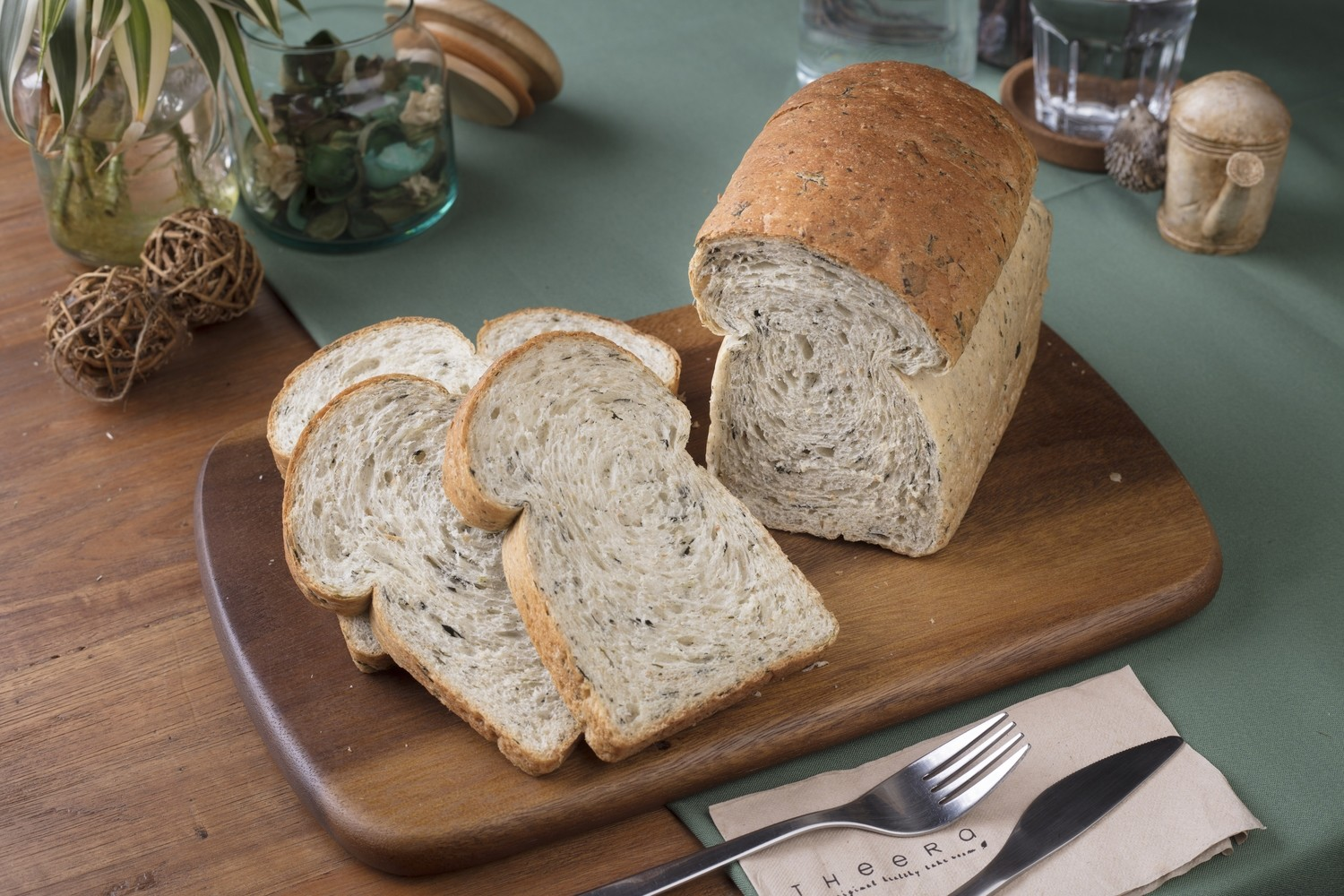Vegan Wholewheat Spinach Bread (Full Loaf)