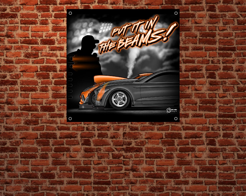 Lee Sebring Announcing  3'x3' Banner