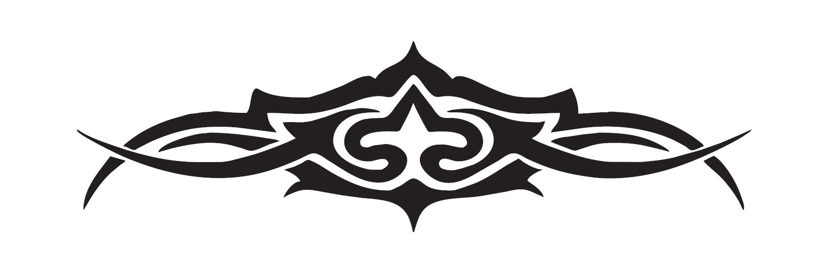 USA and International Orders: 100mm Hi Gloss Black Sticker. Classic Tattoo Design. Suitable for Bikes, Helmets etc. 000US1
