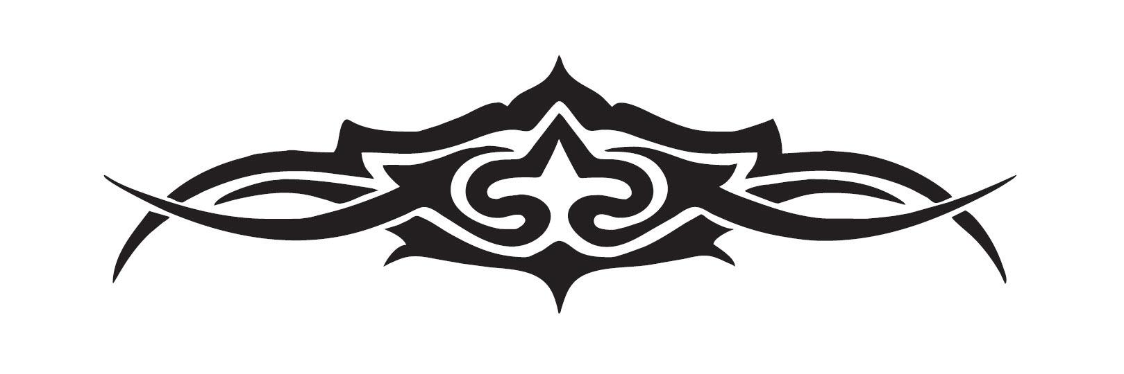 USA and International Orders: 2 x 100mm Hi Gloss Black Sticker. Classic Tattoo Design. Suitable for Bikes, Helmets etc. 000US2