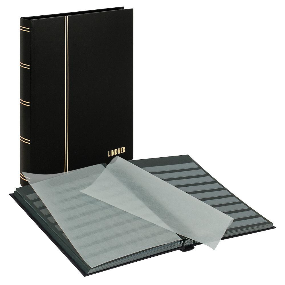 """LINDNER. Кляссер серии """"STANDARD"""" 1168 с 32 чёрными страницами, 230мм Х 305мм Х 25мм, чёрного цвета LINDNER/1168-S"""