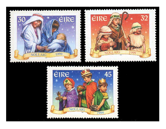 Ирландия. Рождество. Серия из 3 марок