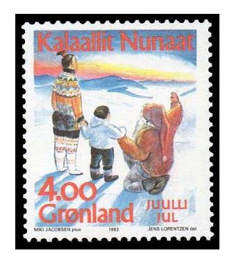Гренландия. Рождество. Марка GL1992/7